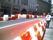 regent street prepares for the f1 parade
