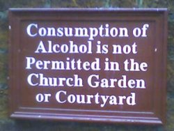 consumption of alcohol is not permitted sign
