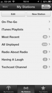 Podcast App on the iPhone